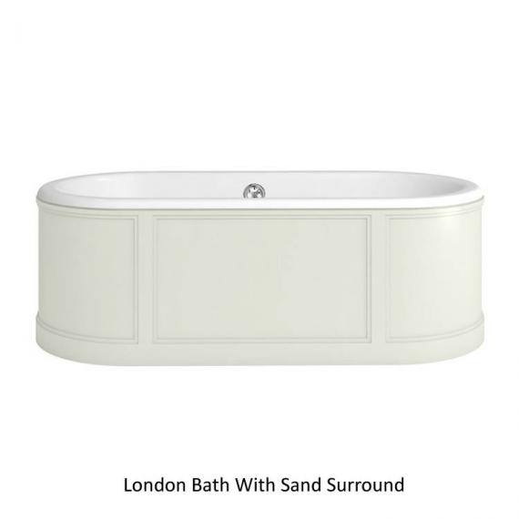 Burlington London Round 1800mm Bath With Curved Surround - Sand