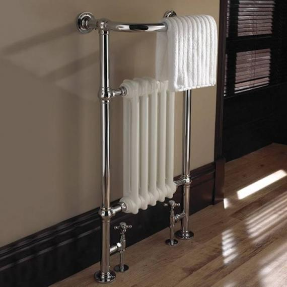 Imperial Malmo 5 Bar Chrome & White Radiator