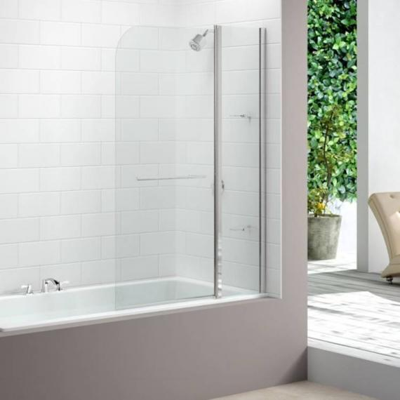 Merlyn MB3 Two Panel Curved Bath Screen