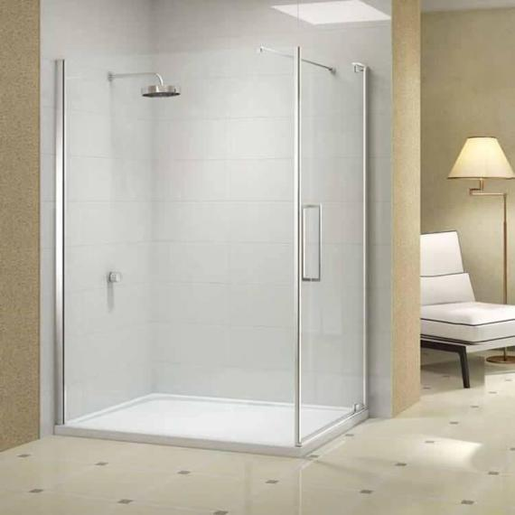 Merlyn 10 Series Pivot Shower Door With Optional Side Panel