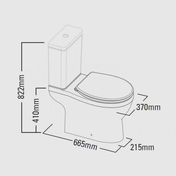 Roper Rhodes Minerva Close Coupled WC, Cistern & Juno Seat - Spec