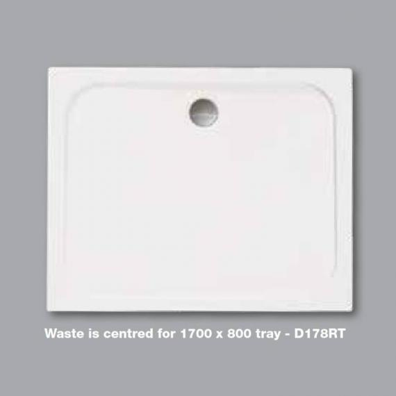 Merlyn MStone 1700 x 800mm Rectangular Shower Tray & Waste