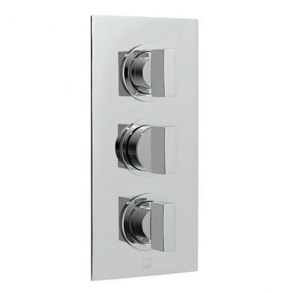 Vado Notion Twin Outlet 3 Control Thermostatic Shower Valve