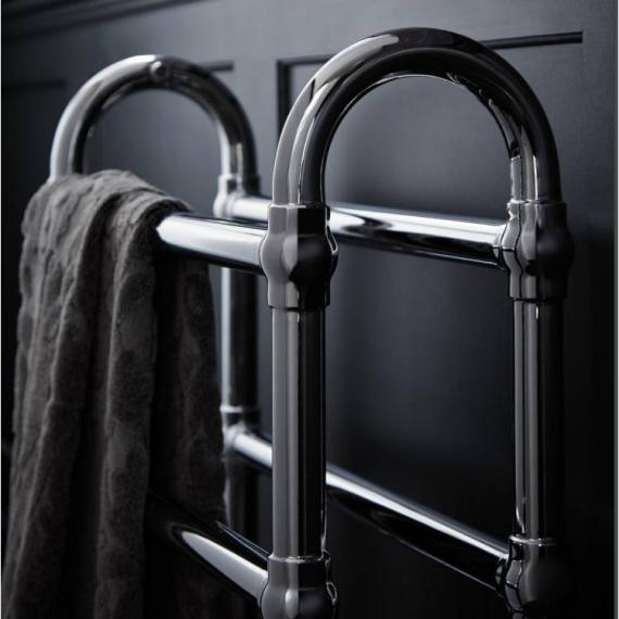 Heritage Oakham Chrome Heated Towel Rail Detail