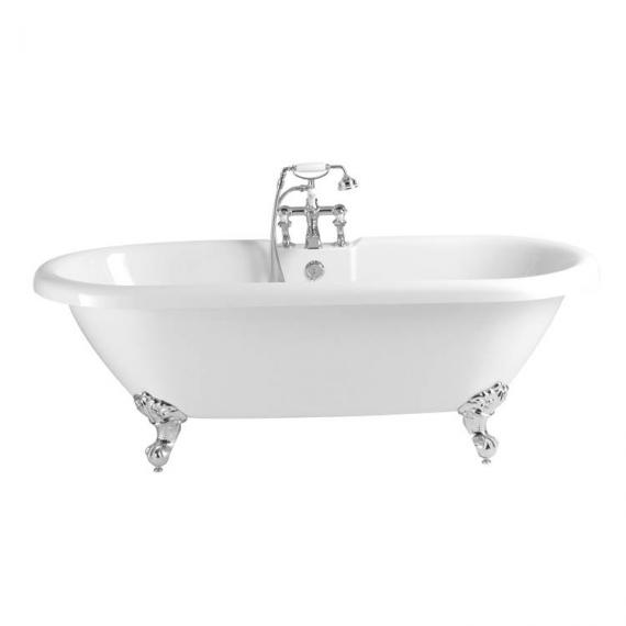 Heritage Oban Roll Top Double Ended Freestanding Bath & Feet