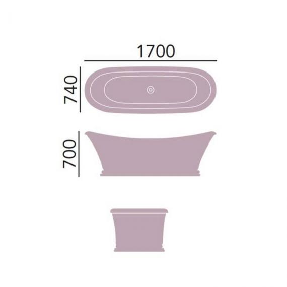 Heritage Orford Freestanding Double Ended Slipper Bath Specification