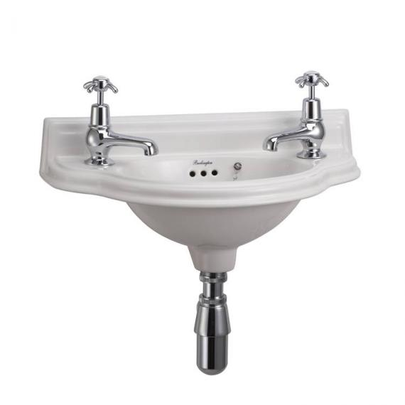 Burlington Curved Cloakroom Wall Mounted Basin - Image 3