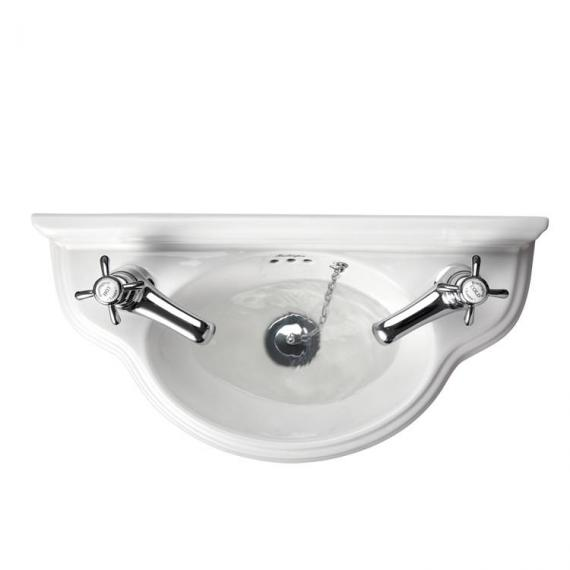Burlington Curved Cloakroom Wall Mounted Basin - Image 4