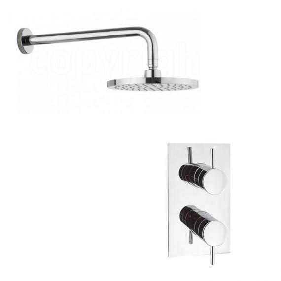 Crosswater Kai Designer Lever Shower Valve & Fixed Shower Head