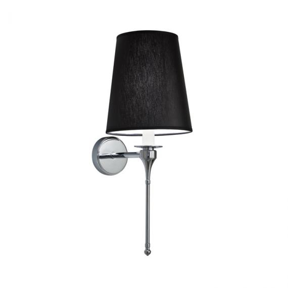 Imperial Pendant Light with Plain Black Chintz Shade