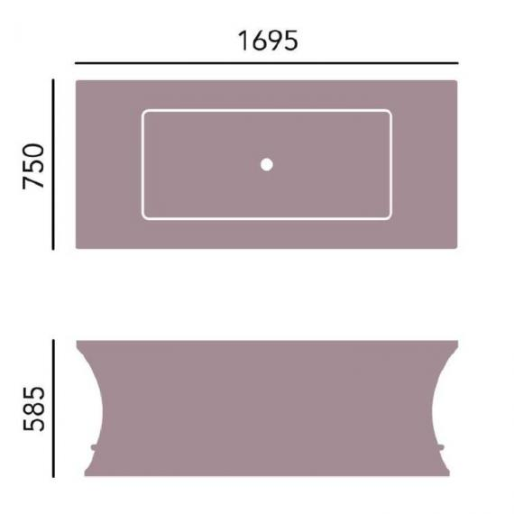 Heritage Penrose Double Ended Freestanding Bath Specification