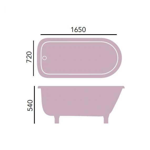 Heritage Perth Roll Top Freestanding Bath & Feet Specification