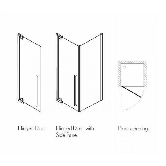 Simpsons Pier Hinged Shower Door Specification