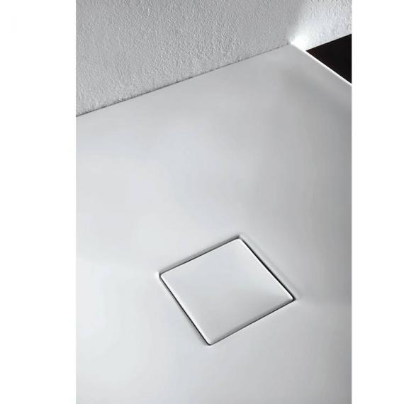 Simpsons Plus+Ton Matt White 1200 x 900mm Rectangle Ceramic Shower Tray & Waste