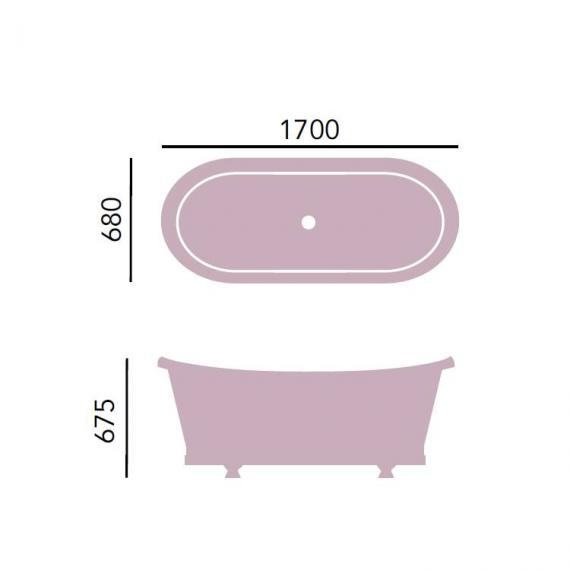 Heritage Porto Santo Bateau Cast Iron Double Ended Freestanding Bath Specification
