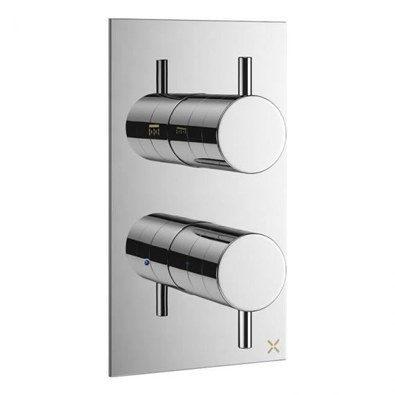 Crosswater Mike Pro Chrome Thermostatic Shower Valve With Diverter
