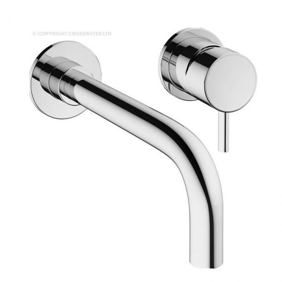 Crosswater Mike Pro Chrome Wall Mounted Basin 2 Hole Set