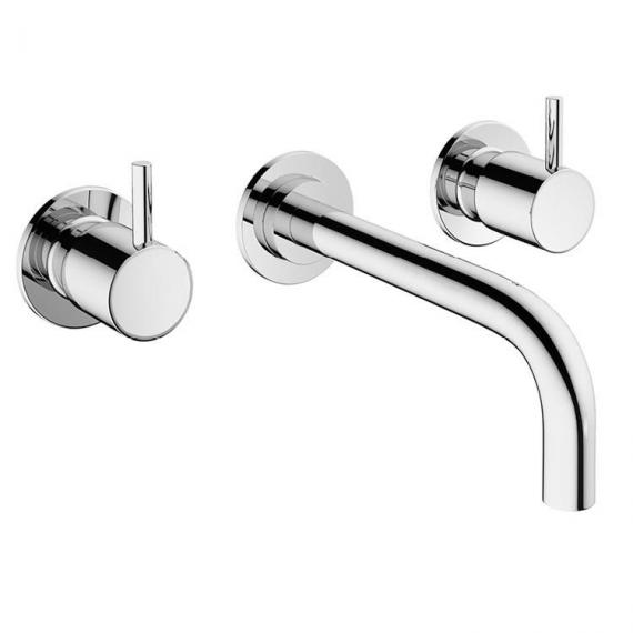 Crosswater Mike Pro Chrome Wall Mounted Basin 3 Hole Set