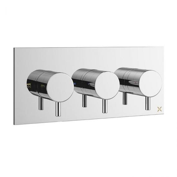 Crosswater Mike Pro Chrome Thermostatic Triple Landscape Shower Valve