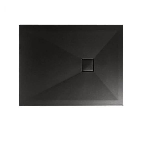 Simpsons Plus+Ton Matt Black 1400 x 800mm Rectangle Ceramic Shower Tray & Waste