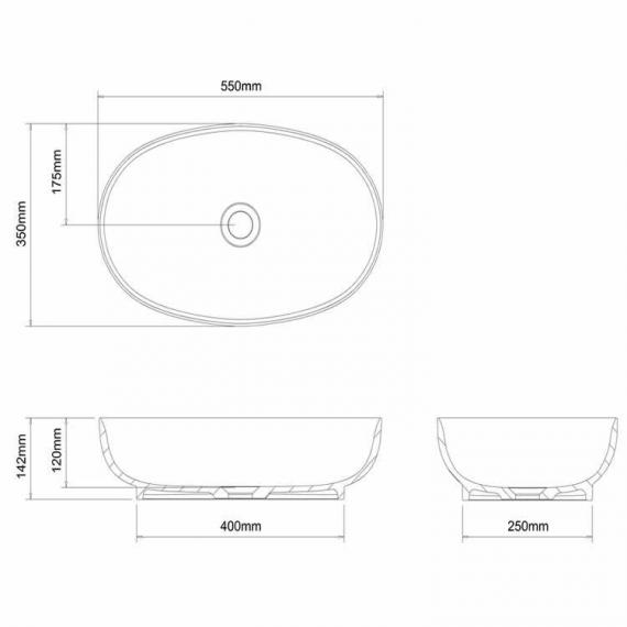 Clearwater Puro Clear Stone Basin Specification
