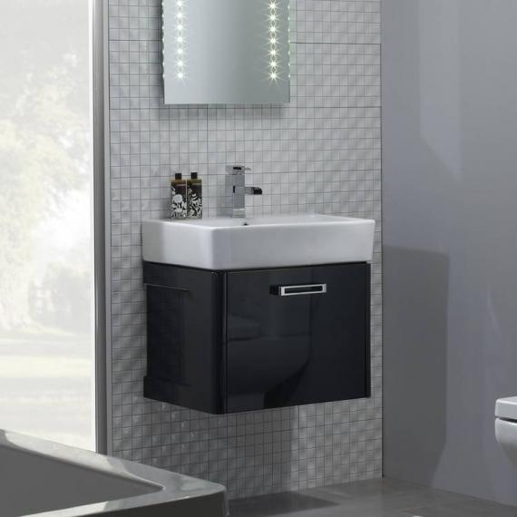 Tavistock Q60 575mm Wall Mounted Graphite Vanity Unit & Basin
