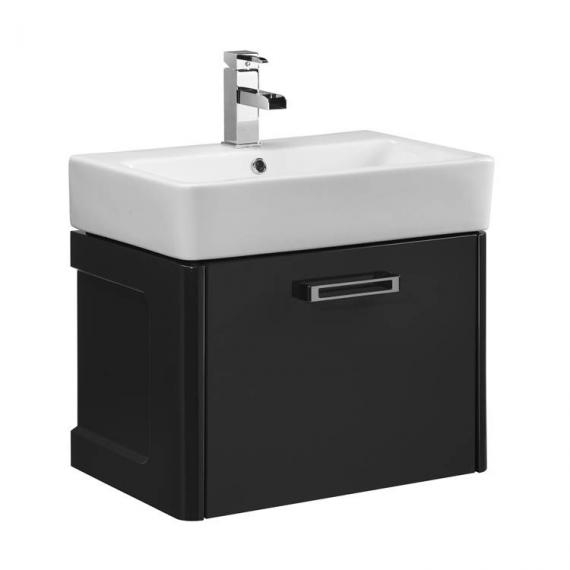 Tavistock Q60 575mm Wall Mounted Graphite Vanity Unit & Basin - Image 3