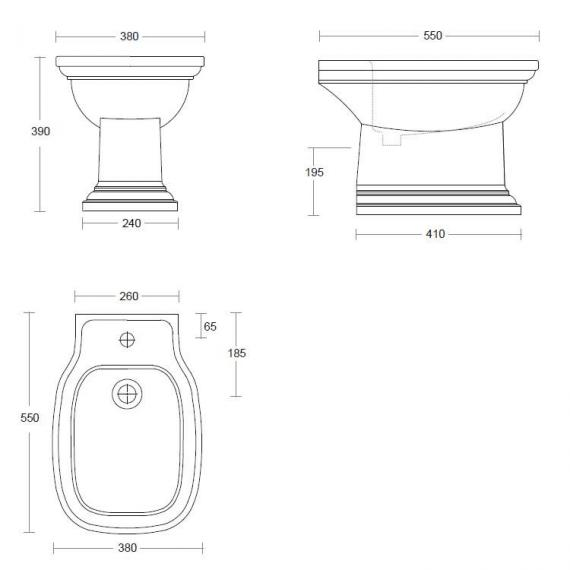 Imperial Radcliffe Bidet Specification