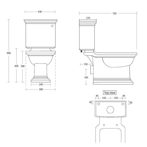 Imperial Radcliffe Close Coupled WC & Cistern Specification
