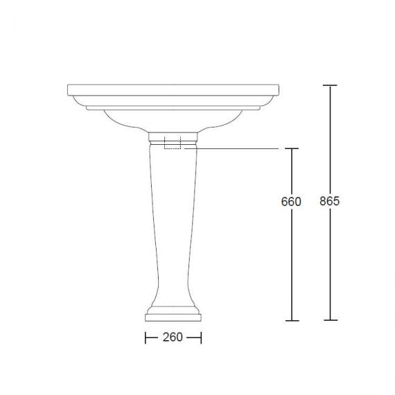Imperial Radcliffe Large 685mm Basin & Pedestal Specification