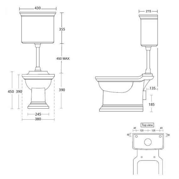 Imperial Radcliffe Low Level WC & Cistern Specification