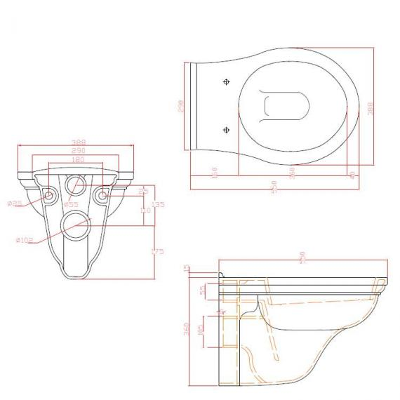 Imperial Radcliffe Wall Hung WC Specification