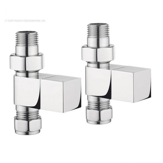 Bauhaus Square Straight Radiator Valves