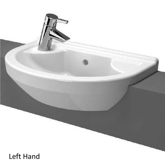 Vitra S50 Round Compact Semi Recessed Basin - Image 2