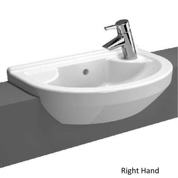 Vitra S50 Round Compact Semi Recessed Basin - Image 4