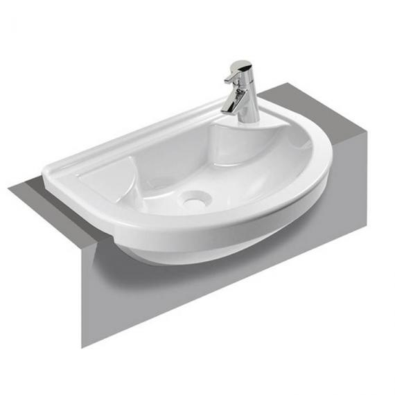 Vitra S50 Round Compact Semi Recessed Basin - Image 3