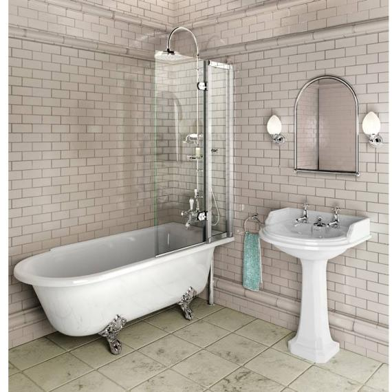 Burlington Hampton 1500mm Showering Bath & Feet - Right Hand - Image 7