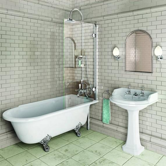 Burlington Hampton 1500mm Showering Bath & Feet - Right Hand - Image 6