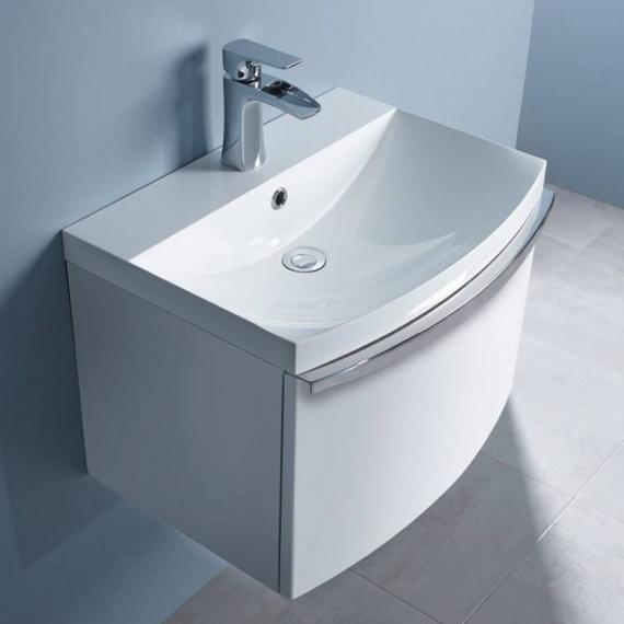 Roper Rhodes Serif 600mm White Gloss Wall Mounted Vanity Unit & Basin - Image 2