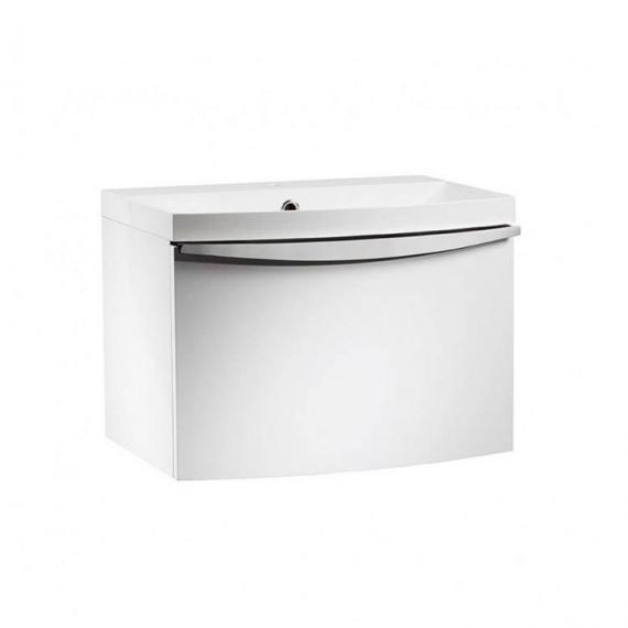 Roper Rhodes Serif 600mm White Gloss Wall Mounted Vanity Unit & Basin - Image 3