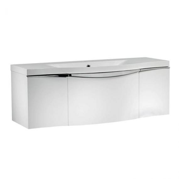 Roper Rhodes Serif 1200mm White Gloss Wall Mounted Vanity Unit & Basin