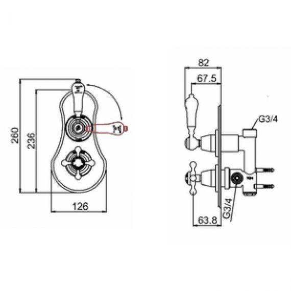Burlington Severn Thermostatic Shower Valve & Shower Rose Pack - Spec
