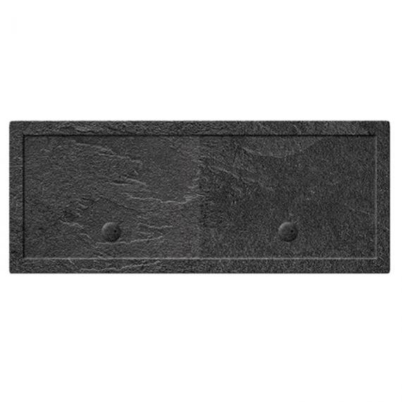Simpsons 2000 x 1000mm Grey Slate Effect Rectangle 35mm Shower Tray