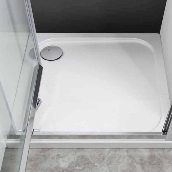 Simpsons 760 x 760mm 45mm Square Stone Resin Shower Tray & Waste