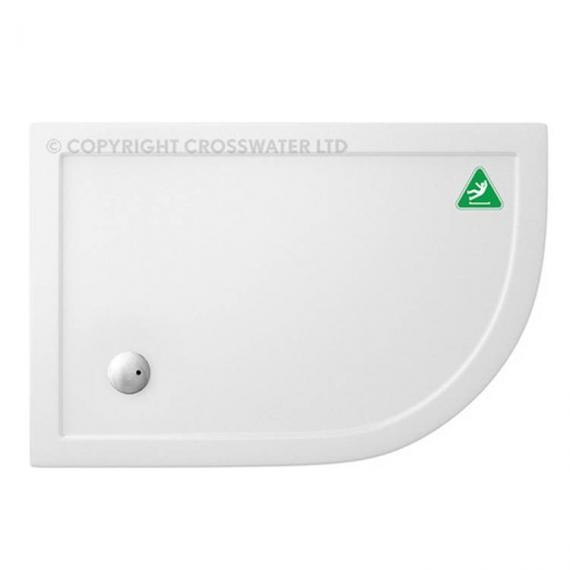 Simpsons 1000 x 800mm Offset Quadrant 35mm Anti-Slip Shower Tray