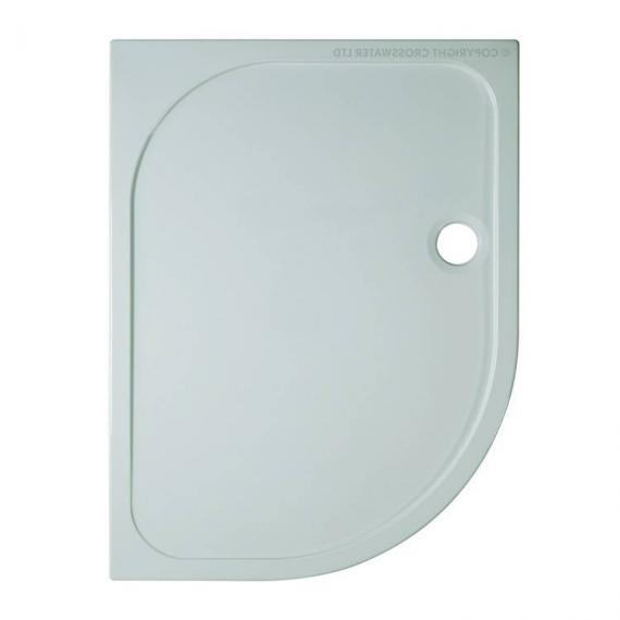 Simpsons 1200 x 800mm 45mm Offset Quadrant Stone Resin Shower Tray - Left Hand
