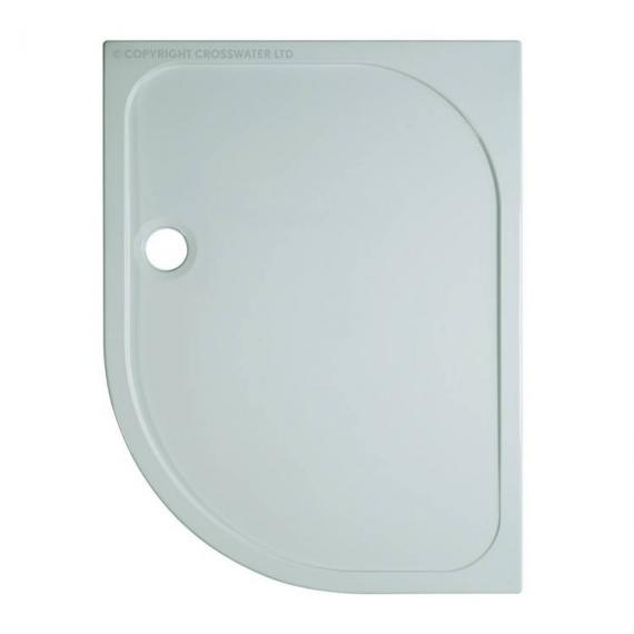 Simpsons 1200 x 900mm 45mm Offset Quadrant Stone Resin Shower Tray - Right Hand