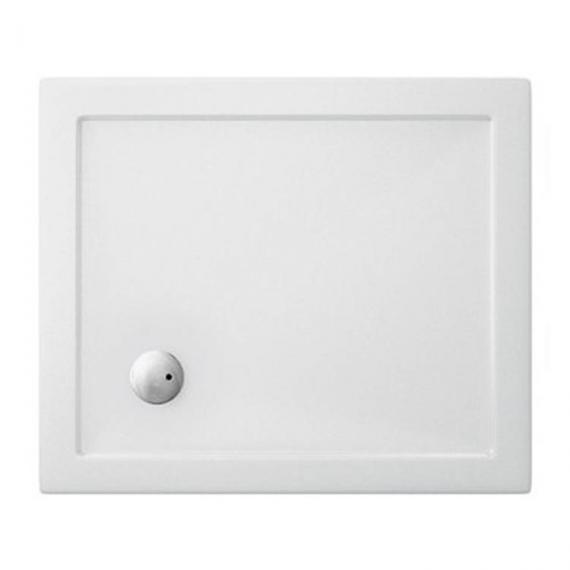 Simpsons 900 x 760mm White Rectangle 35mm Shower Tray