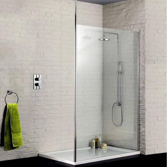Sommer 8 Wetroom Screen With Floor To Ceiling Post