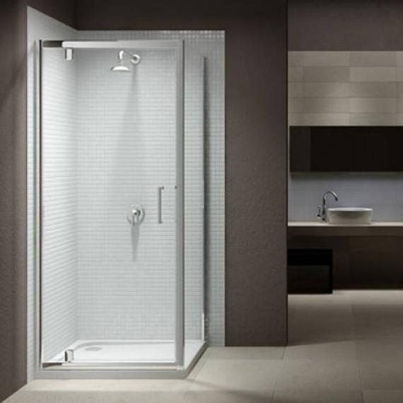 Sommer 8 Pivot Shower Door With Optional Side Panel